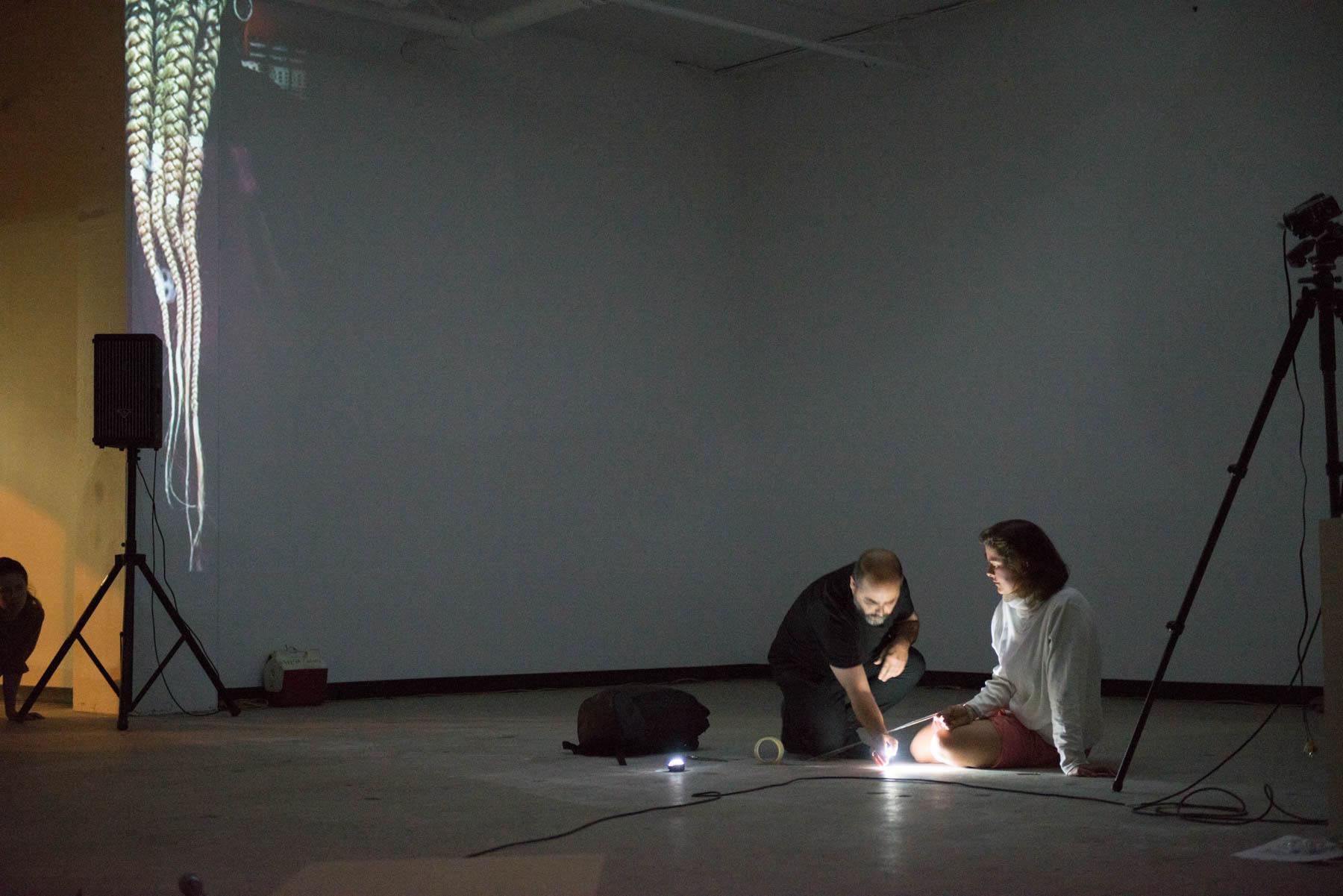 Alexandre A. R. Costa, Zuzana Žabková, Galerie Clark/RIAP, 2016 performance, photo: Paul Litherland
